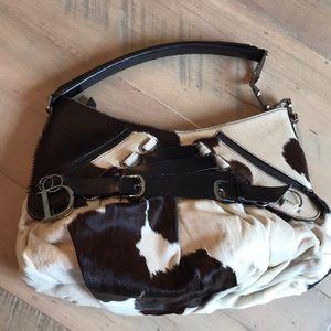 Dior vintage pony hair handbag